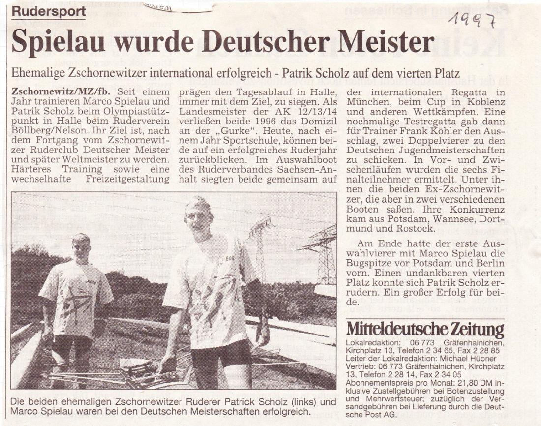 Marco Spielau - 1997-mitteldeutsche-zeitung